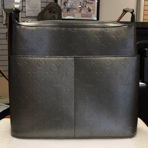 Louis Vuitton Matte Gray Sutter Shoulder Bag